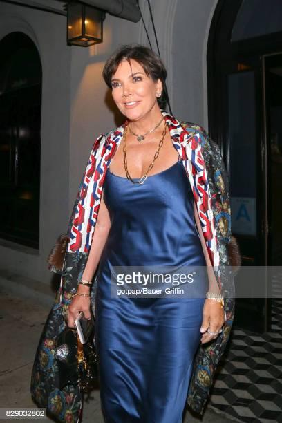 Kris Jenner is seen on August 09 2017 in Los Angeles California