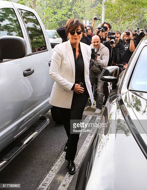 Kris Jenner is seen on March 27 2016 in Los Angeles California