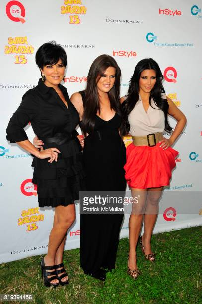 Kris Jenner Khloe Kardashian and Kim Kardashian attend Donna Karan Ariel Foxman InStyle Along With Kelly Ripa Ashley Greene Present Super Saturday 13...