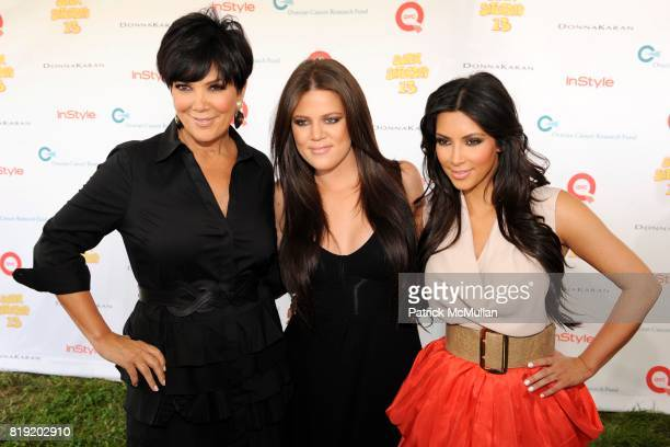 Kris Jenner Khloe Kardashian and Kim Kardashian attend YUMMIE TUMMIE By Heather Thomson At Super Saturday at Nova's Ark Project on July 31 2010 in...