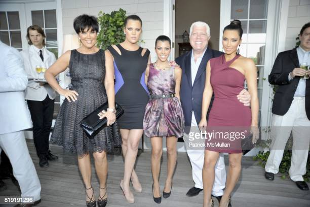 Kris Jenner Khloe Kardashian Kourtney Kardashian Dennis Basso and Kim Kardashian attend QVC Style Initiative Dinner hosted by CEO Mike George at the...