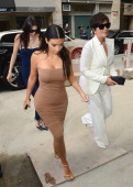 Kris Jenner Kim Kardashian and Kendall Jenner are seen in the Meat Packing District on June 27 2014 in New York City