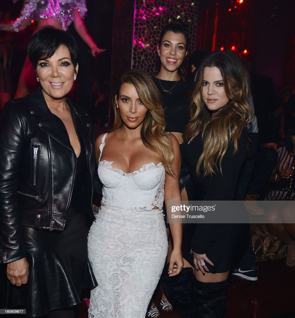 <a gi-track='captionPersonalityLinkClicked' href=/galleries/search?phrase=Kris+Jenner&family=editorial&specificpeople=762610 ng-click='$event.stopPropagation()'>Kris Jenner</a>, <a gi-track='captionPersonalityLinkClicked' href=/galleries/search?phrase=Kim+Kardashian&family=editorial&specificpeople=753387 ng-click='$event.stopPropagation()'>Kim Kardashian</a>, <a gi-track='captionPersonalityLinkClicked' href=/galleries/search?phrase=Kourtney+Kardashian&family=editorial&specificpeople=3955024 ng-click='$event.stopPropagation()'>Kourtney Kardashian</a> and <a gi-track='captionPersonalityLinkClicked' href=/galleries/search?phrase=Khloe+Kardashian&family=editorial&specificpeople=3955023 ng-click='$event.stopPropagation()'>Khloe Kardashian</a> celebrate <a gi-track='captionPersonalityLinkClicked' href=/galleries/search?phrase=Kim+Kardashian&family=editorial&specificpeople=753387 ng-click='$event.stopPropagation()'>Kim Kardashian</a>'s 33rd birthday at Tao Las Vegas on October 25, 2013 in Las Vegas, Nevada.