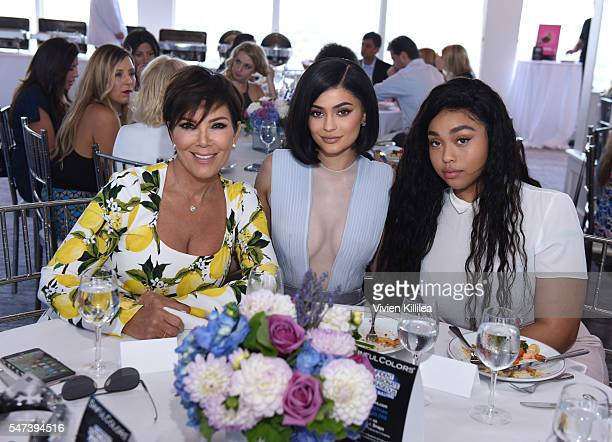 Kris Jenner Kylie Jenner and Jordyn Woods attend SinfulColors and Kylie Jenner Announce charitybuzzcom Auction for Anti Bullying on July 14 2016 in...