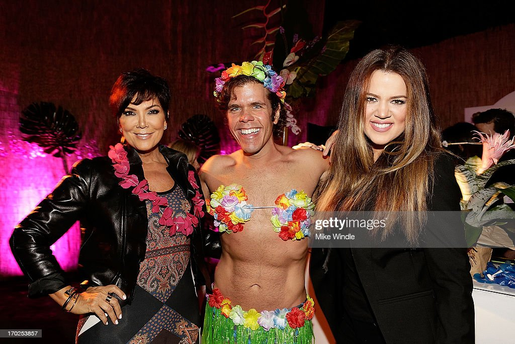 Kris Jenner Perez Hilton and Khloe Kardashian attend the C Wonder and Patron Tequila party to celebrate Maria Menounos' birthday on June 8 2013 in...