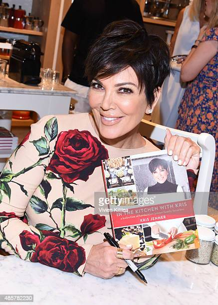 Kris Jenner signs copies of her book at WilliamsSonoma and Kris Jenner Get Cooking at Grand Opening of store at The Commons at Calabasas on August 29...