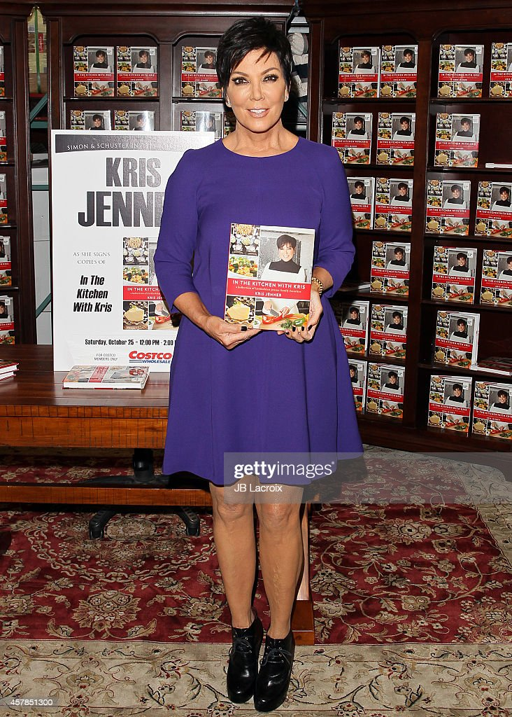 Kris Jenner signs copies of her new book 'In The Kitchen With Kris' at Costco on October 25 2014 in Westlake Village California