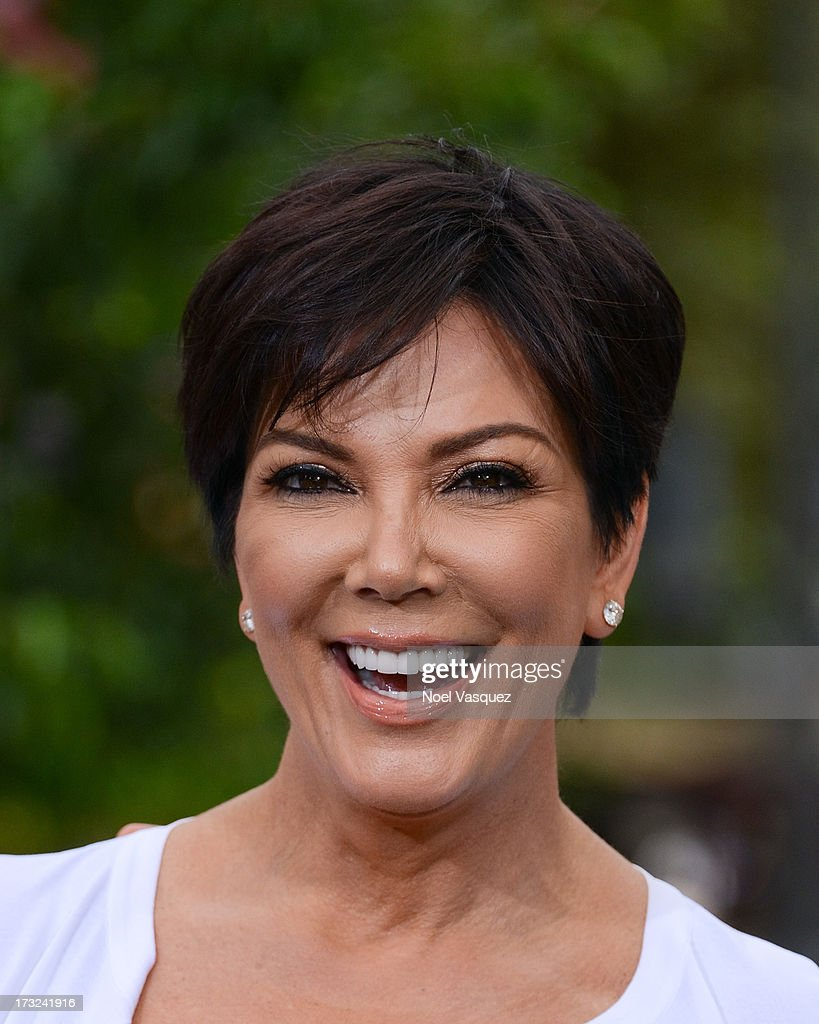 <a gi-track='captionPersonalityLinkClicked' href=/galleries/search?phrase=Kris+Jenner&family=editorial&specificpeople=762610 ng-click='$event.stopPropagation()'>Kris Jenner</a> visits 'Extra' at The Grove on July 10, 2013 in Los Angeles, California.