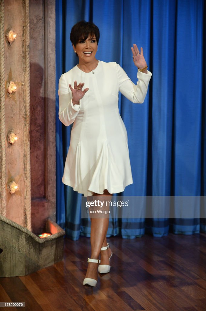 Kris Jenner visits 'Late Night With Jimmy Fallon' at Rockefeller Center on July 9, 2013 in New York City.
