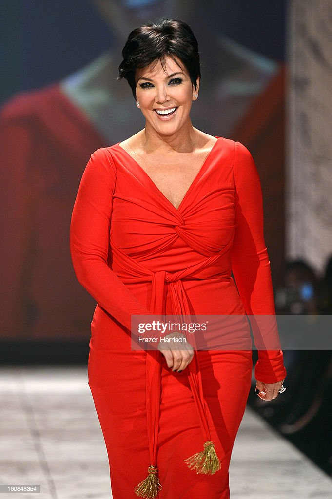 Kris Jenner walks the runway at The Heart Truth 2013 Fashion Show at Hammerstein Ballroom on February 6, 2013 in New York City.