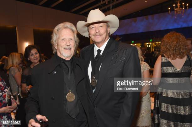 Kris Kristofferson and Alan Jackson attend the Country Music Hall of Fame and Museum Medallion Ceremony to celebrate 2017 hall of fame inductees Alan...