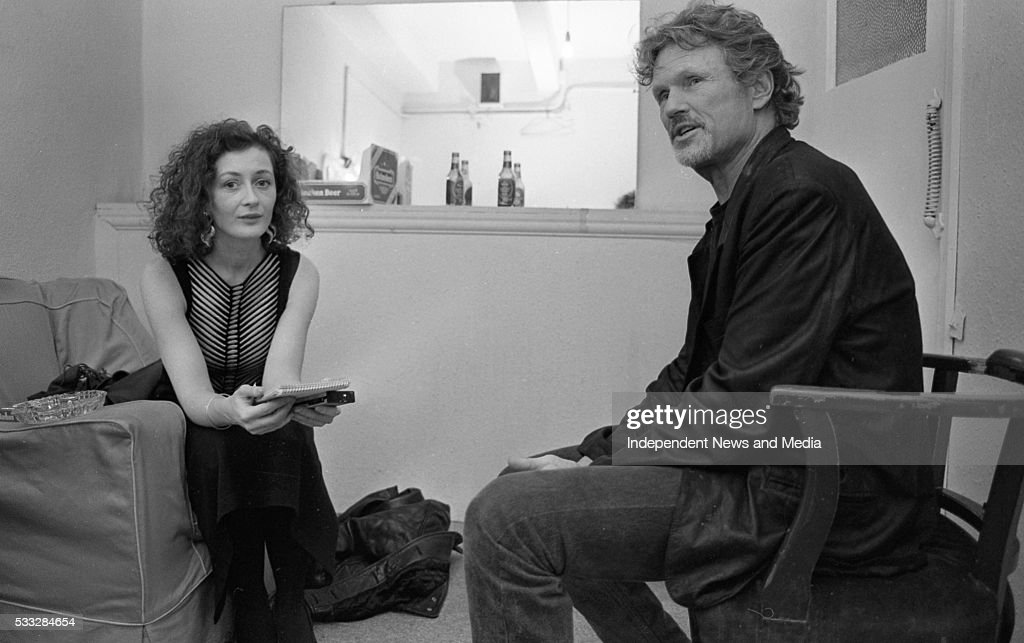 Kris Kristofferson being interviewed He performed in the Olympia Theatre Dublin