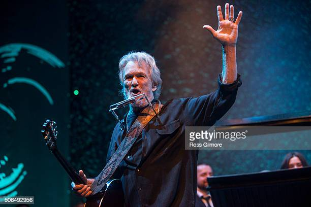 Kris Kristofferson headlines the Roaming Roots Revue at the 2016 Celtic Connections Festival at Glasgow Royal Concert Hall on January 23 2016 in...