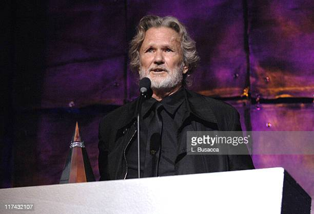 Kris Kristofferson honoree during 37th Annual Songwriters Hall of Fame Ceremony Show and Dinner at Marriott Marquis in New York City New York United...