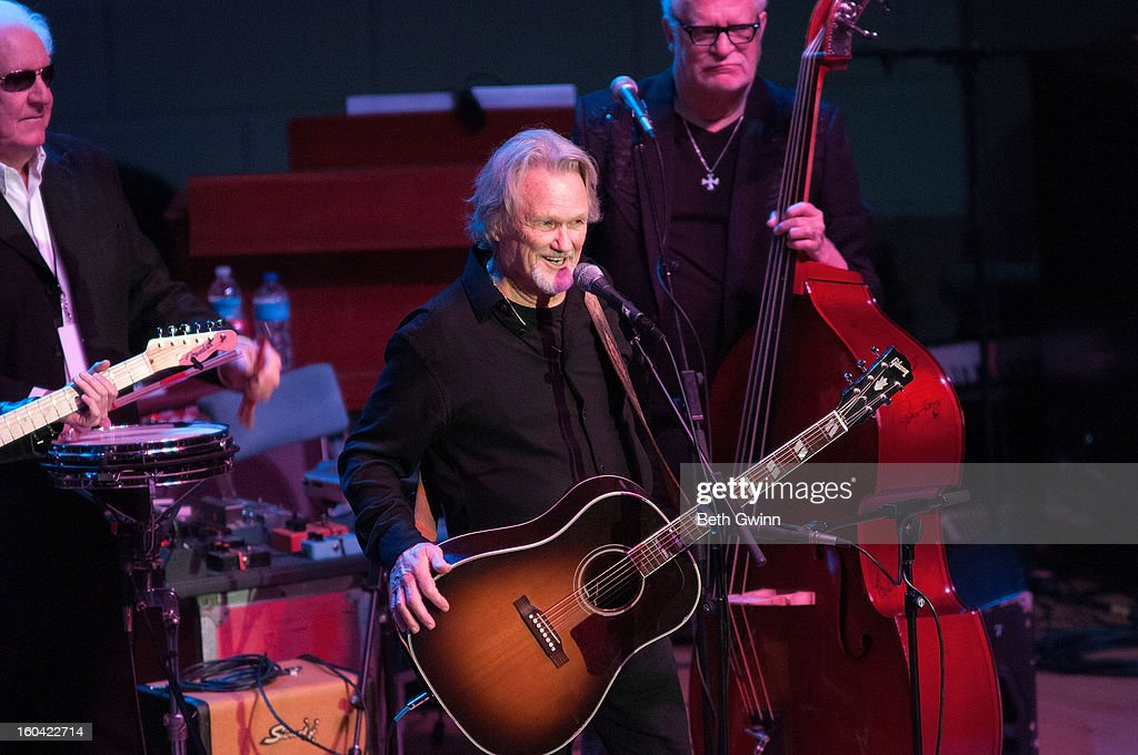 Kris Kristofferson performs during the Tribute to Cowboy Jack Clement at War Memorial Auditorium on January 30, 2013 in Nashville, Tennessee.