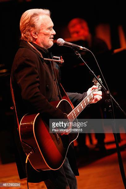 Kris Kristofferson rehearses onstage for The Life Songs of Emmylou Harris An All Star Concert Celebration at DAR Constitution Hall on January 10 2015...