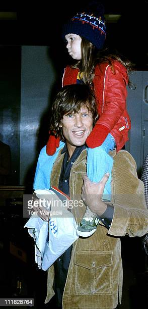 Kris Kristofferson with daughter Casey at Heathrow Airport