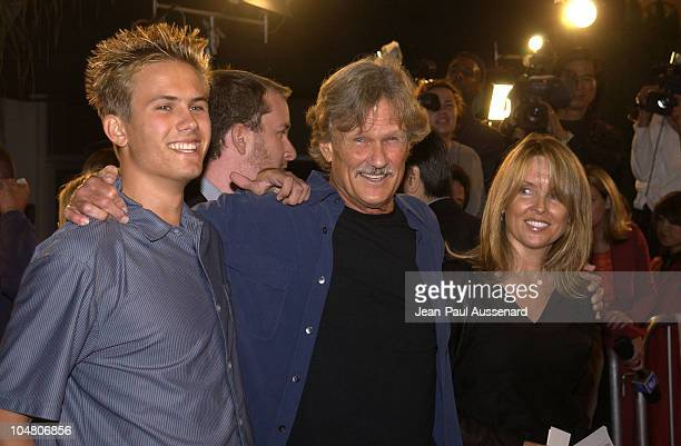 Kris Kristofferson with son daughter during 'The Transporter' Premiere at Mann Village Theater in Westwood California United States