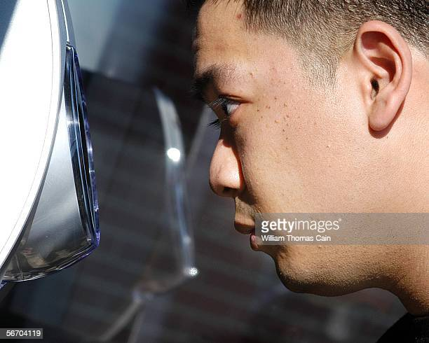 Kris Ledesma of Eyemetric tests the iris recognition system at Park Avenue Elementary School January 30 2006 in Freehold New Jersey Iris recognition...