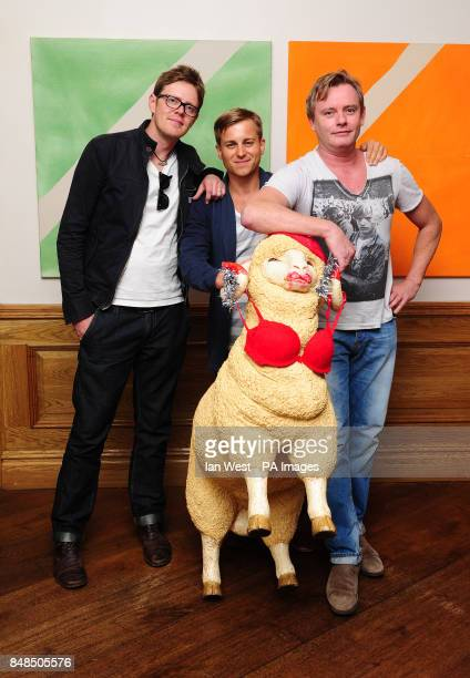 Kris Marshall Kevin Bishop and director Stephan Elliott arrive at a screening for new film A Few Best Men at the Soho Hotel in London