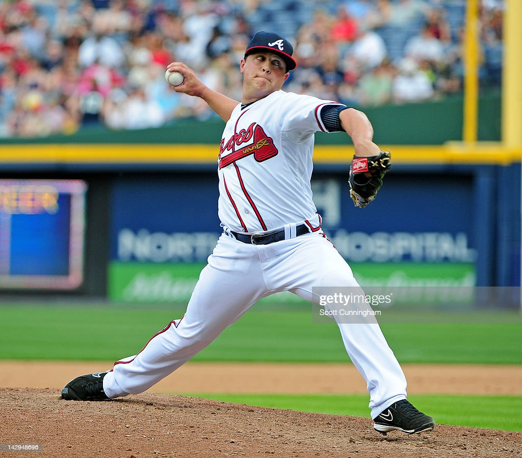 <a gi-track='captionPersonalityLinkClicked' href=/galleries/search?phrase=Kris+Medlen&family=editorial&specificpeople=5743982 ng-click='$event.stopPropagation()'>Kris Medlen</a> of the Atlanta Braves pitches against the Milwaukee Brewers at Turner Field on April 15, 2012 in Atlanta, Georgia. All uniformed team members are wearing jersey number 42 in honor of Jackie Robinson Day.