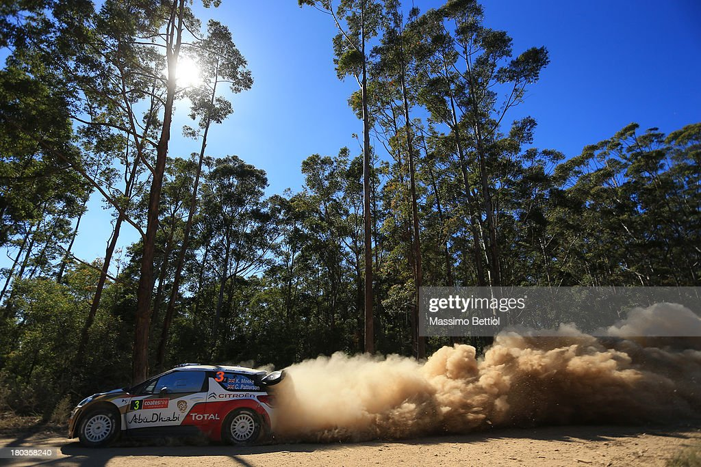 Kris Meeke of Great Britain and Chris Patterson of Ireland compete in their Citroen Total Abu Dhabi WRT Citroen DS3 WRC during the Shakedown of the WRC Australia on September 12, 2013 in Coffs Harbour, Australia.