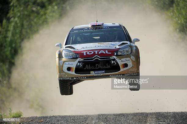 Kris Meeke of Great Britain and Paul Nagle of Great Britain compete in their Citroen Total Abu Dhabi WRT Citroen DS3 WRC during Day One of the WRC...