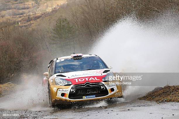 Kris Meeke of Great Britain and Paul Nagle of Ireland compete in their Citroen Total Abu Dhabi WRT Citroen DS3 WRC during Day Two of the WRC...