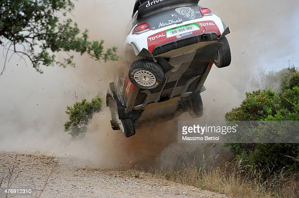 Kris Meeke of Great Britain and Paul Nagle of Ireland crashed their Citroen Total Abu Dhabi WRT Citroen DS3 WRC during special stage n°2 'Grighine...