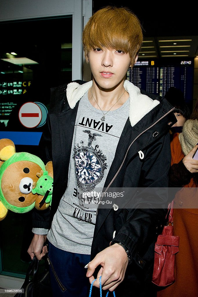 Kris of boy band EXO-M is seen at Incheon Inaternational Airport on January 16, 2013 in Incheon, South Korea.