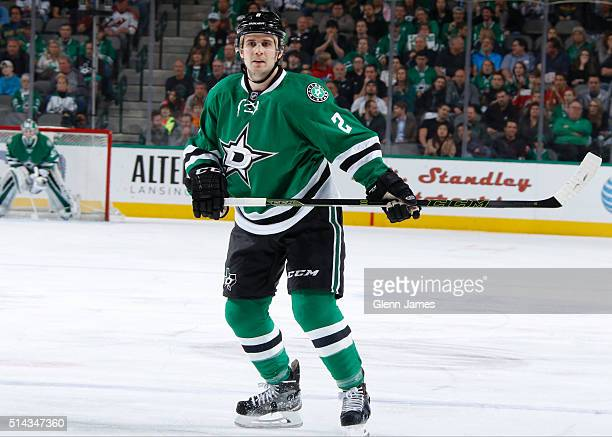 Kris Russell of the Dallas Stars skates against the New Jersey Devils at the American Airlines Center on March 4 2016 in Dallas Texas