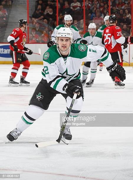 Kris Russell of the Dallas Stars skates against the Ottawa Senators at Canadian Tire Centre on March 6 2016 in Ottawa Ontario Canada