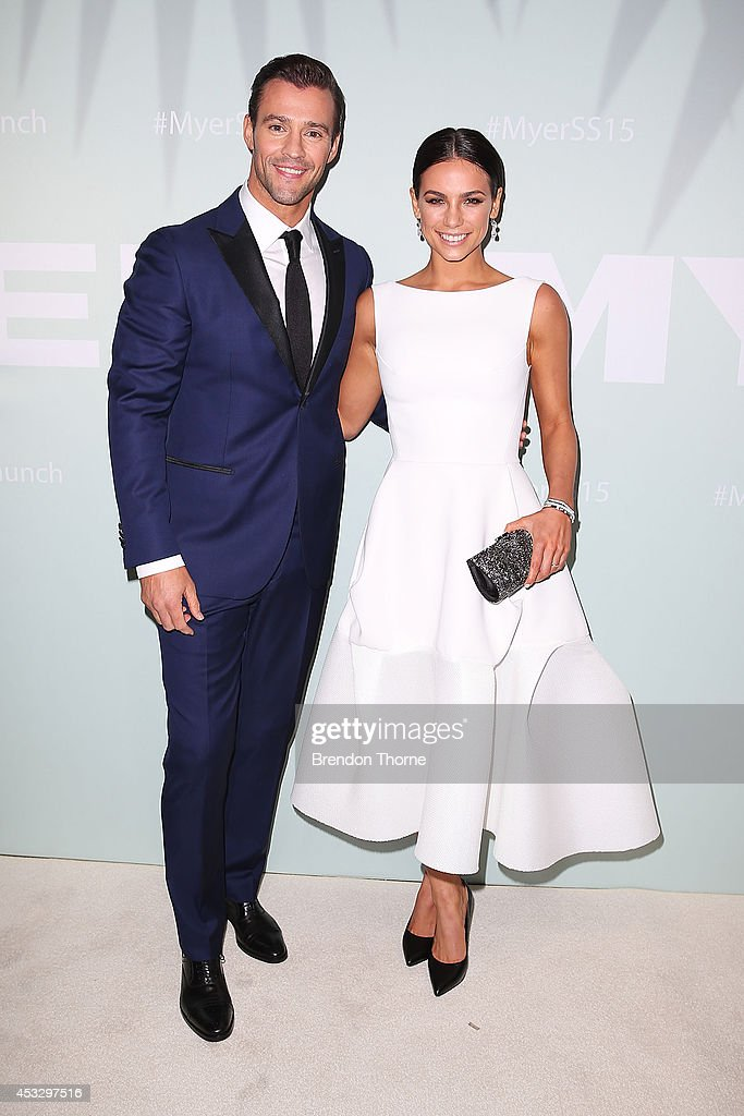 <a gi-track='captionPersonalityLinkClicked' href=/galleries/search?phrase=Kris+Smith&family=editorial&specificpeople=5623091 ng-click='$event.stopPropagation()'>Kris Smith</a> and Maddy King arrive at the Myer Spring Summer 2014 Fashion Launch at Carriageworks on August 7, 2014 in Sydney, Australia.