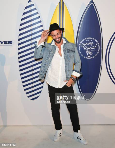 Kris Smith attends the Myer 'Spring Social' Night Event at Bronte Surf Life Club on August 17 2017 in Sydney Australia