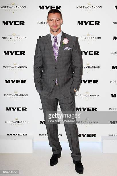 Kris Smith poses inside the Moet and Chandon Marquee during Spring Champion Stakes Day at Royal Randwick on October 12 2013 in Sydney Australia