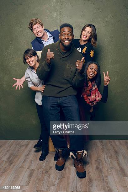 Kris Swanberg Anders Holm Chris Webber Cobie Smulders and Gail Bean of 'Unexpected' pose for a portrait at the Village at the Lift Presented by...