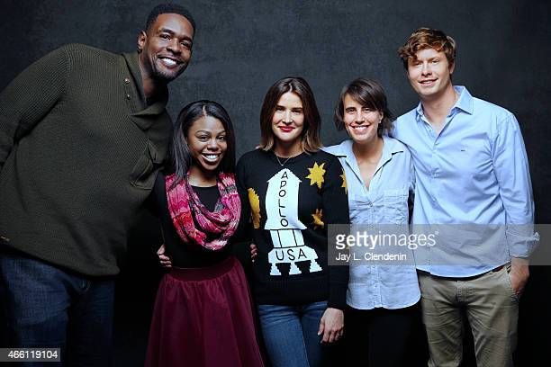 Kris Swanberg Anders Holm Chris Webber Cobie Smulders and Gail Bean from the film 'Unexpected' pose for a portrait for the Los Angeles Times at the...
