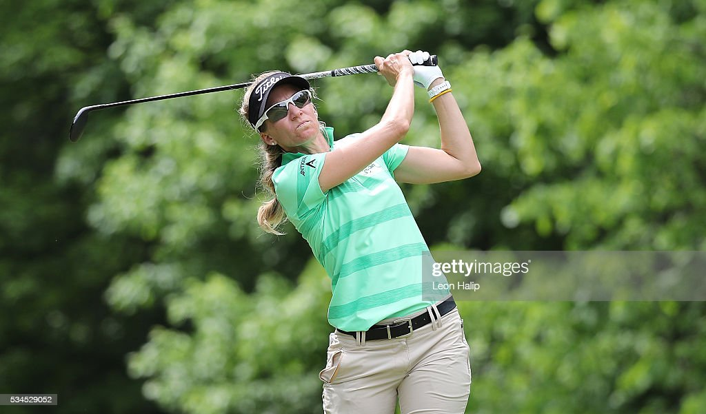 <a gi-track='captionPersonalityLinkClicked' href=/galleries/search?phrase=Kris+Tamulis&family=editorial&specificpeople=4460030 ng-click='$event.stopPropagation()'>Kris Tamulis</a> hits her tee shot of the seventh hole during the first round of the LPGA Volvik Championship on May 26, 2016 at Travis Pointe Country Club Ann Arbor, Michigan.