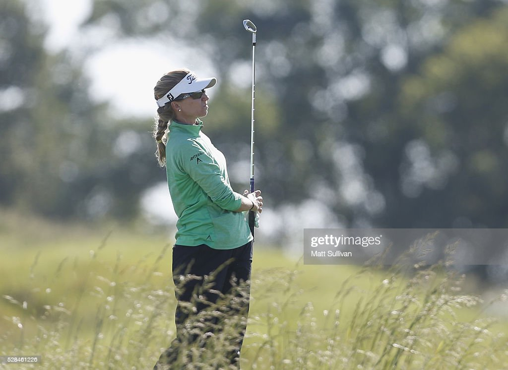 <a gi-track='captionPersonalityLinkClicked' href=/galleries/search?phrase=Kris+Tamulis&family=editorial&specificpeople=4460030 ng-click='$event.stopPropagation()'>Kris Tamulis</a> watches her tee shot on the second hole during the Yokohama Tire Classic on May 05, 2016 in Prattville, Alabama.