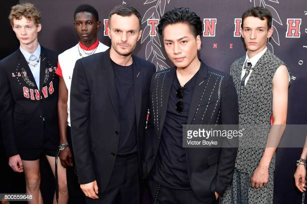Kris Van Assche and Hiroomi Tosaka attend the Dior Homme Menswear Spring/Summer 2018 show as part of Paris Fashion Week on June 24 2017 in Paris...