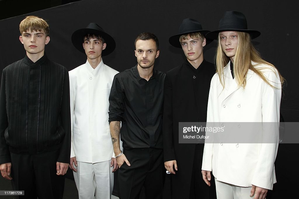 Kris Van Assche and models attend the Dior Homme Menswear Spring/Summer 2012 show as part of Paris Fashion Week at on June 25, 2011 in Paris, France.