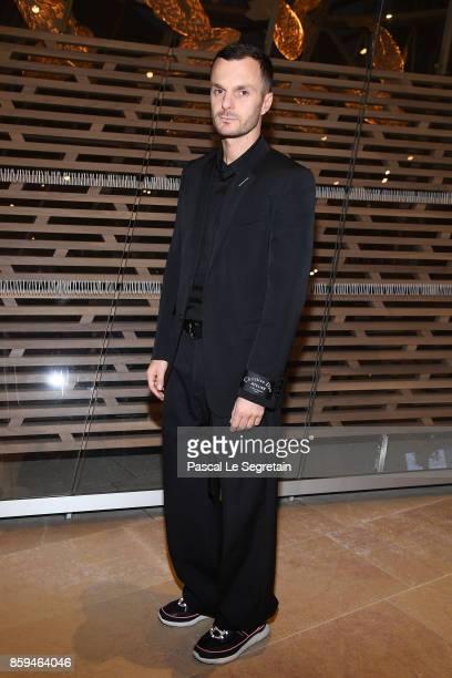 Kris Van Assche attends 'Etre Moderne Le MoMA A Paris' Exhibition at Fondation Louis Vuitton on October 9 2017 in Paris France