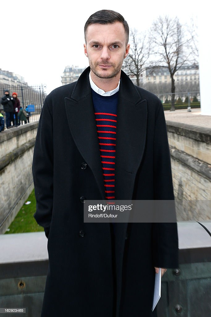 Kris Van Assche attends the Christian Dior Fall/Winter 2013 Ready-to-Wear show as part of Paris Fashion Week on March 1, 2013 in Paris, France.