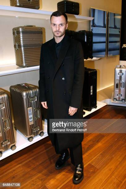 Kris Van Assche attends the Opening of the Boutique Rimowa 73 Rue du Faubourg Saint Honore in Paris on March 6 2017 in Paris France