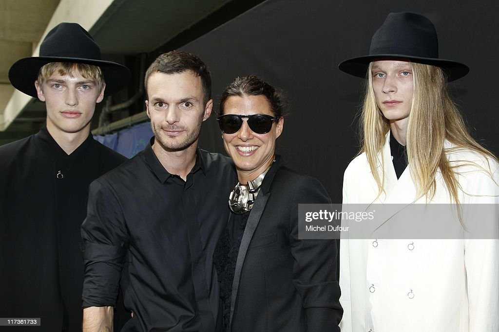 Kris Van Assche, Camille Miceli and models attend the Dior Homme Menswear Spring/Summer 2012 show as part of Paris Fashion Week at on June 25, 2011 in Paris, France.