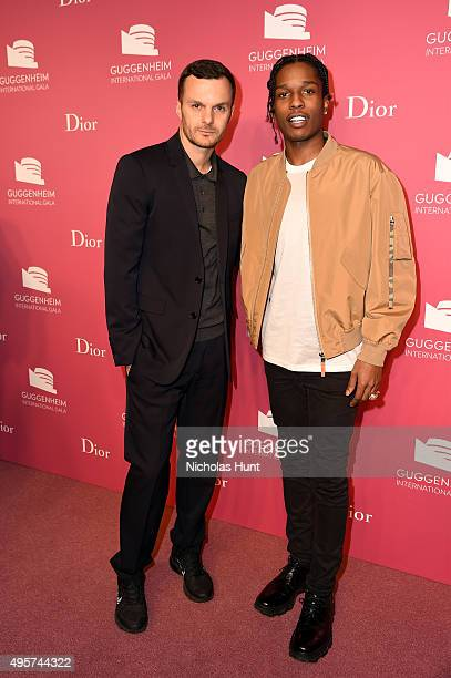 Kris Van Assche Dior and ASAP Rocky attend the 2015 Guggenheim International Gala PreParty made possible by Dior at Solomon R Guggenheim Museum on...