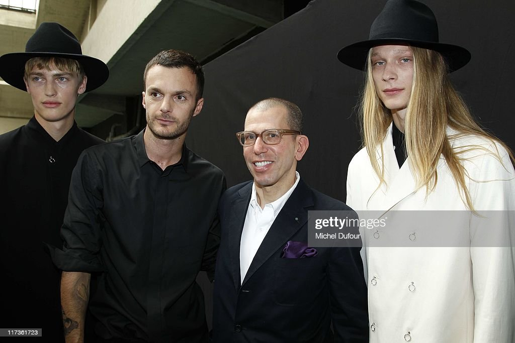 Kris Van Assche, Jonathan Newshouse and models attend the Dior Homme Menswear Spring/Summer 2012 show as part of Paris Fashion Week at on June 25, 2011 in Paris, France.