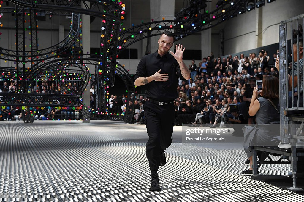 Kris Van Assche walks the runway during the Dior Homme Menswear Spring/Summer 2017 show as part of Paris Fashion Week on June 25, 2016 in Paris, France.
