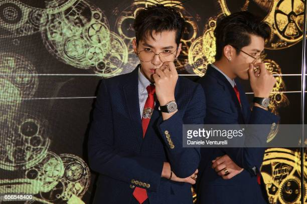 Kris Wu attends Bvlgari Cocktail At Baselworld 2017 on March 22 2017 in Basel Switzerland