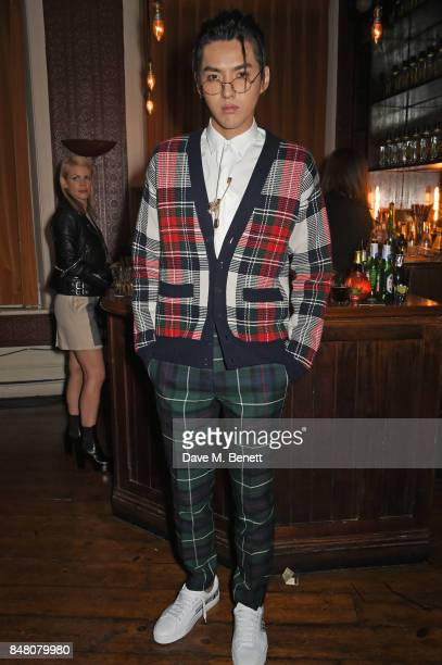 Kris Wu celebrate Burberrys September collection and the Dazed Burberry cover shot by Angelo Penetta during London Fashion Week on September 16 2017...